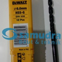 DEWALT 6 Mm Mata Bor Besi HSS-G Drill 6mm
