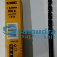 DEWALT 8 Mm Mata Bor Besi HSS-G Drill 8mm