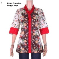 Harga blus batik wanita pitaloka katun primisima unggul jaya embos | Hargalu.com