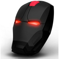 Jual Beli TaffWare Wireless Iron Man Style Optical Mouse Silent Clic