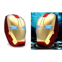 Jual Beli Wireless Iron Man Style Optical Mouse Silent Click 2.4Ghz