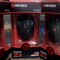 Jual Beli MOUSE GAMING WIRELESS FANTECH RAIGOR W4-W529 Black-Red Bar