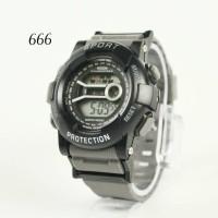jam tangan sport digital Pria Berkualitas Etalase Umat / jtr 666 abu