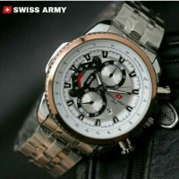 jam tangan swiss army Pria Berkualitas Etalase Umat / jtr 670 putih