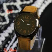 jam tangan fossil Pria Berkualitas Etalase Umat / jtr 678 coklat