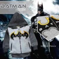 Jaket Anak Lucu - Jaket Anak Fleece Karakter Batman Hoodie Abu Hitam