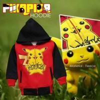 Jaket Anak Lucu - Jaket Anak Fleece Karakter Pokemon Merah Size 2-7