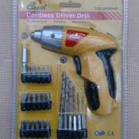 Obeng / Bor Cordless Drill / Screwdriver (Rechargeable)