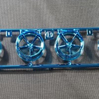 TAMIYA Large Dia LW Narrow Wheel Blue Plated