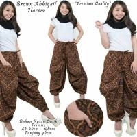 brown harem jogger-celana aladin-online-fashion-celana motif batik-SB