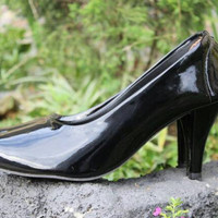 LADY SHOES OC GLOSSY BLACK - (HO-001)