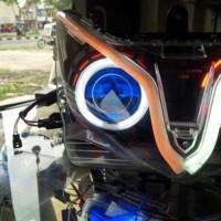 Lampu Alis Motor Mobil 2 Led (Senja + Sein) 30 Cm Terlaris