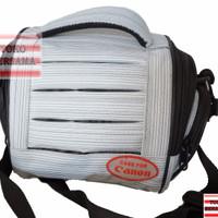 Tas Kamera Tas Sandang Kamera / Camcorder Kecil Putih Abu-abu Kode 414