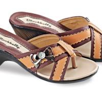 Sepatu Wedges Wanita Terbaru Pu-Pvc Sol Tpr Coklat BLY 41