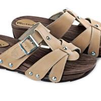 Sepatu Wedges Terbaru Pu-Pvc Sol Karet Coklat BLY 36