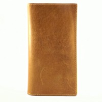 BAGNEZIA Equine Pull Up Tan Leather Goods Dot Dompet Pria Wanita