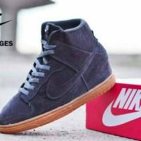 Nike Dunk Wedges Women Grey Suede