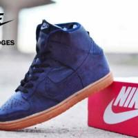 Nike Dunk Wedges Women Navy Suede