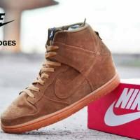 Nike Dunk Wedges Women Tan Suede