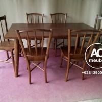 1 Set meja makan kursi 6