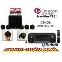 Jual Paket Home Theater Denon AVR-X520BT Boston Acoustics Soundware XS 5.1 Murah