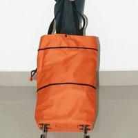 PROMO Trolley Foldable Shopping Bag Tas Belanja Troli Yang Bisa Dilipa
