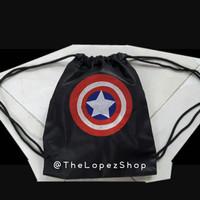 PROMO Tas Jaring / Tas Serut Perisai Tameng Captain America Civil War