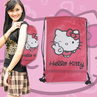 PROMO Tas Sekolah Hellokity Pink Bag Tas Anak Tas Serut