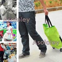 PROMO Folding Trolley Bag (Foldable Trolley Shopping Bag) - Tas Trolle