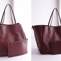 PROMO ZARA SHOPPER BAG RFC321 MAROON-ZARA BASIC REDWINE-TAS ZARA REP.O