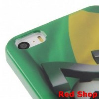Football World Cup Pattern Smooth Plastic Case for iPhone 5/5s/SE - Gr