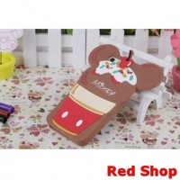 Cute Ice Cream Cartoon TPU Case for iPhone 5/5s/SE - Brown