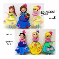 Kado Hobi FG176 Pajangan Figure Set Princess Chibi E Isi 6