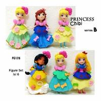 Kado FG176 Pajangan Figure Set Princess Chibi B Isi 6