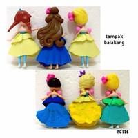 Kado FG176 Pajangan Figure Set Princess Chibi E Isi 6