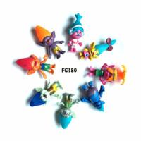 Kado FG180 Pajangan Figure Set Trolls Isi 8 Cake Topper