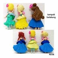Kado Hobi FG176 Pajangan Figure Set Princess Chibi D Isi 6