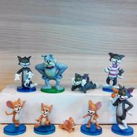 Action Figure Tom And Jerry 6cm 9pcs / Set (Action Figure)