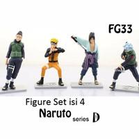 Kado Hobi FG33 Figure Set Isi 4 Naruto Action D