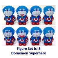 Kado FG09 Figure Set Isi 8 Doraemon Superhero