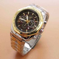 FORTUNER ORI ANTI AIR CHRONO VARIASI GOLD SILVER LINGKAR GOLD (BLACK)