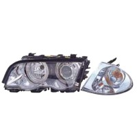 444-1129PXNDAE1 HEAD LAMP + CORNER LAMP BMW 3 SERIES E46 Diskon