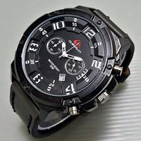 PROMO LIMETED Jam Tangan Pria / Cowok Quiksilver LC488 Leather Black G