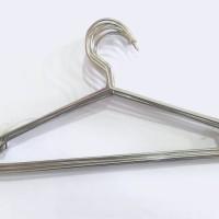 Hanger Stainless Steel / Gantungan Baju Metal Kuat Awet Diskon