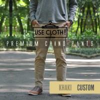 harga Celana Chino, Jogger, Cargo Panjang Khaki [localbrand: Use-cloth] Tokopedia.com