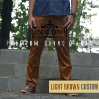 harga Celana Chino, Jogger, Cargo Panjang Lightbrown [localbrand: Use-cloth] Tokopedia.com