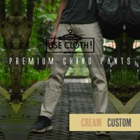 harga Celana Chino, Jogger, Cargo Panjang Cream [localbrand: Use-cloth] Tokopedia.com