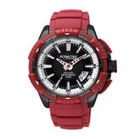 Q&Q Attractive Jam Tangan Pria Merah Strap Karet DA60J512Y Original MU