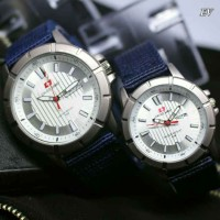 SWISS ARMY KANVAS SEPASANG BLUE COVER WHITE