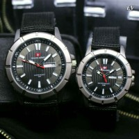 SWISS ARMY KANVAS SEPASANG BLACK COVER BLACK